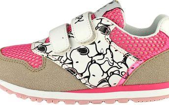 Ominoki Dívčí tenisky Snoopy - růžové