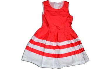Minoti Dívčí šaty CORAL 4 - bílo-červené