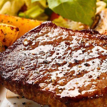 Steaky z vepřové krkovice s přílohou pro dva