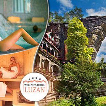 3 až 7 dní s polopenzí a wellness procedurami v Hotelu Lužan**** u Českého Švýcarska