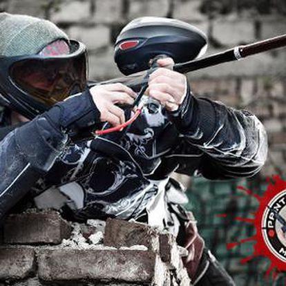 Paintball bitva v areálu bývalé sovětské základny v Milovicích