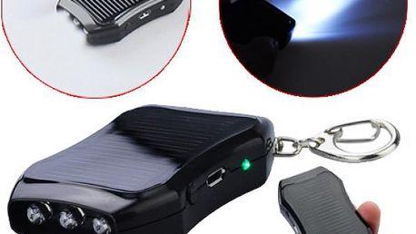 Solární USB nabíječka, svítilna