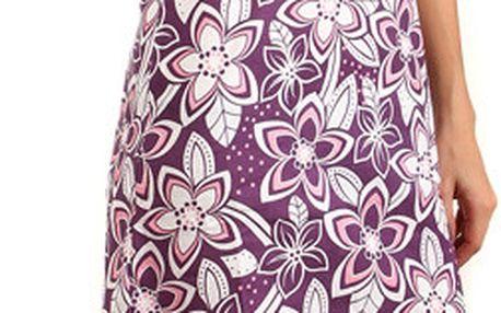 Letní plážové květinové šaty fialová
