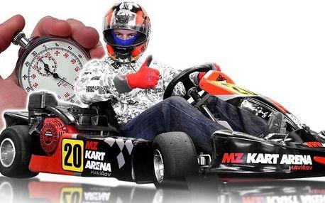 Jízda v nadupané motokáře v kryté hale MZ-Kart
