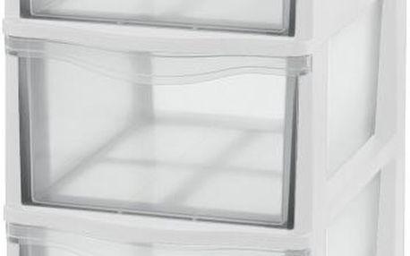 Tontarelli Box se třemi zásuvkami bílá