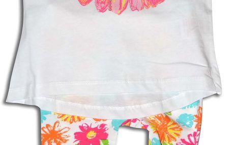 Minoti Dívčí tričko s legínami Garden - bílé