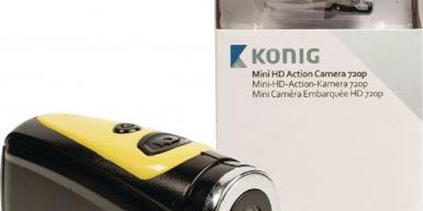 KÖNIG akční HD kamera 720p 5 MP s vodotěsným pouzdrem - CSAC100