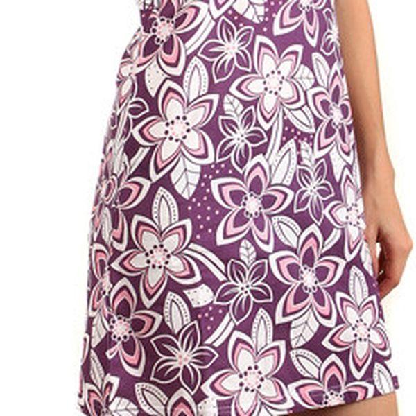 Letní květinové šaty modrá