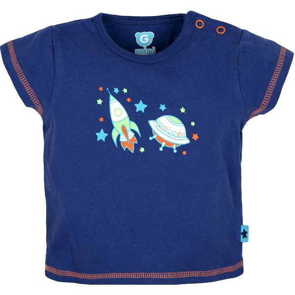G-mini Chlapecké tričko Raketa - modré