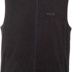 Pánská fleece vesta Regatta RMB012 Tobias B/W black