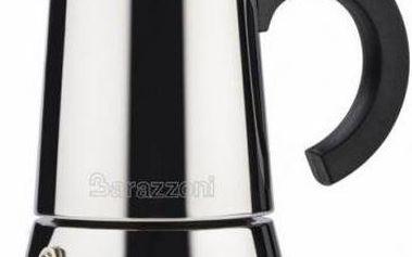 Barazzoni kávovar nerezový 6 šálků