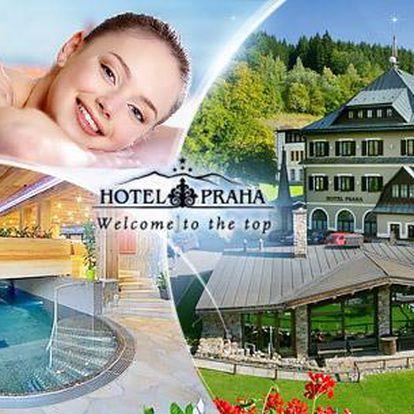 Letní Špindlerův Mlýn na 4 dny pro dva s polopenzí a neomezeným wellness v Hotelu Praha****