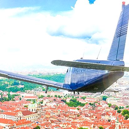 Vyhlídkový let nad Plzní a okolím