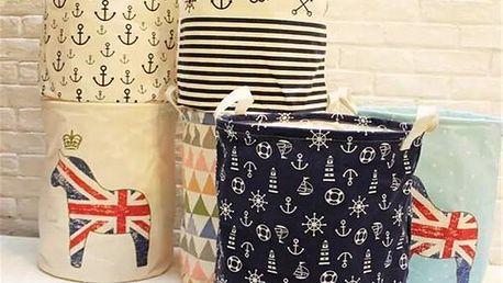 Koš na prádlo s různými vzory
