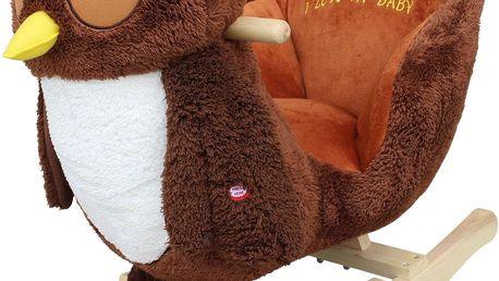 BabyGO Houpací křeslo - sova hnědá
