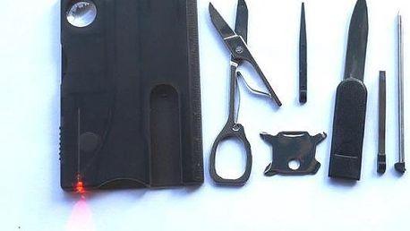 Multifunkční karta plná nástrojů - modrá - skladovka - poštovné zdarma