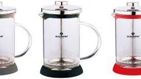 Konvička na čaj a kávu French Press 350 ml, 3 barvy BLAUMANN BL-1441, Červená