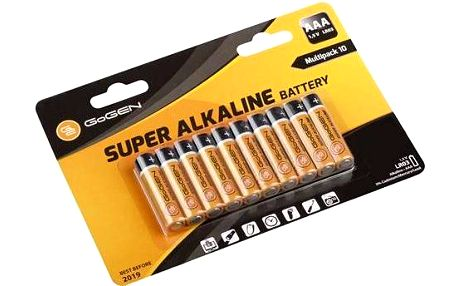 GoGEN SUPER ALKALINE AAA, LR03, blistr 10 ks (GOGR03ALKALINE10) černá/oranžová