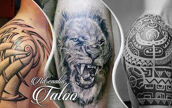 Profesionální tetování rpo zrkášlení těla o rozměru 10 x 15 cm v Adrenalin Tattoo - Praha 7.