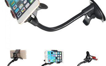 Držák na mobilní telefony nebo GPS na čelní sklo auta - dodání do 2 dnů