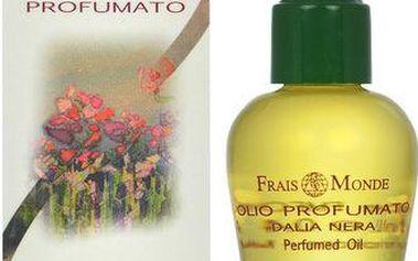 Frais Monde Parfémovaný olej Černá jiřina (Black Dahlia Perfumed Oil) 12 ml