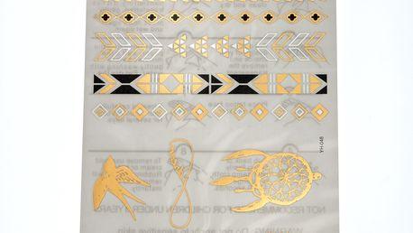 Fashion Icon Metalické dočasné tetování TEMPORARY TATTOO