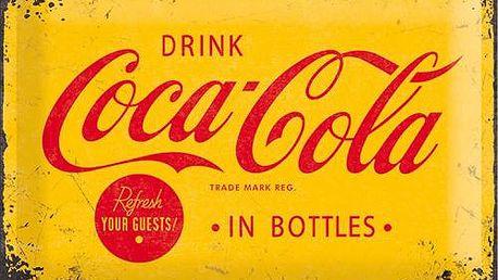 Postershop Plechová cedule 20x30 cm Coca-Cola (Žluté logo)