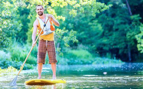 Sjíždění řeky Opavy na paddleboardu