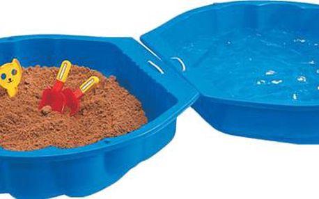 BIG bazén pískoviště mušle modré plastové Simba