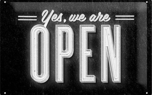 Postershop Plechová cedule 20x30 cm We Are Open