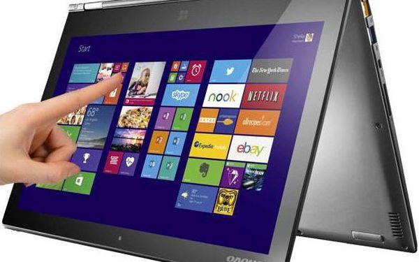 Notebook Lenovo IdeaPad Yoga 2 Pro Touch (59425936) černý/stříbrný