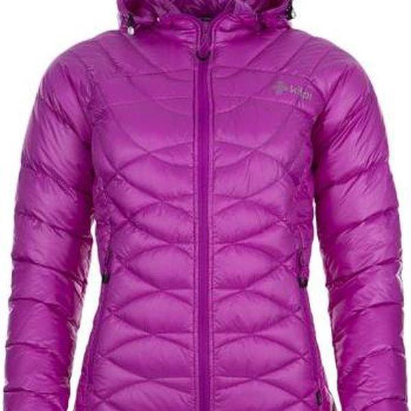 Dámská zimní péřová bunda KILPI CHRISTA fialová