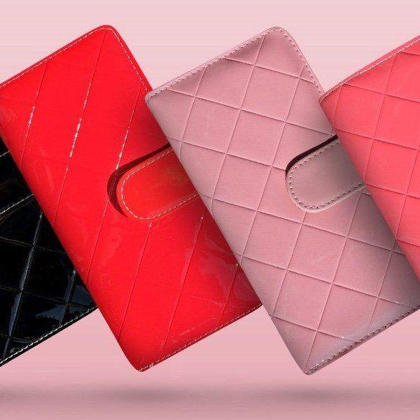 Dámské prošívané peněženky s barevným vnitřkem