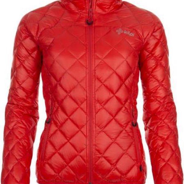 Dámská zimní péřová bunda KILPI IRA červená