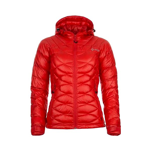 Dámská zimní péřová bunda KILPI CHRISTA červená