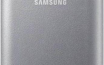 Pouzdro na mobil flipové Samsung LED View pro Galaxy S7 (EF-NG930P) (EF-NG930PSEGWW) stříbrné