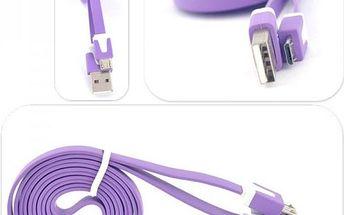 Micro USB datový a nabíjecí kabel - 1 m - poštovné zdarma