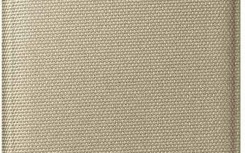 Pouzdro na mobil flipové Samsung Fabric pro Galaxy S6 (EF-WG920BF) (EF-WG920BFEGWW) zlaté