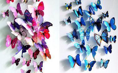 Magnety 3D motýl - dodání do 2 dnů