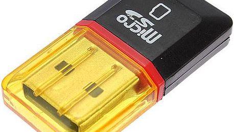Přenosná USB čtečka Micro SD/SDHC karet - poštovné zdarma