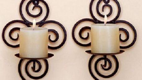 Železný svícen na zeď