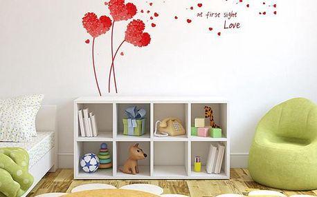 Samolepka na zeď pro zamilované - různé barvy