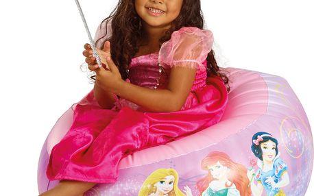 GetGo Dětské nafukovací křeslo Princezny - růžové