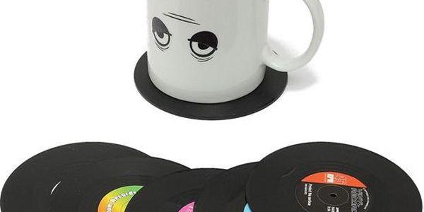 Silikonové podtácky v podobě vinylových desek