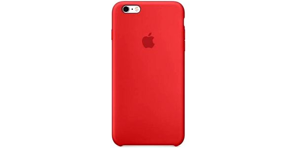 Kryt na mobil Apple Silicone Case pro iPhone 6S - Red (MKY32ZM/A)