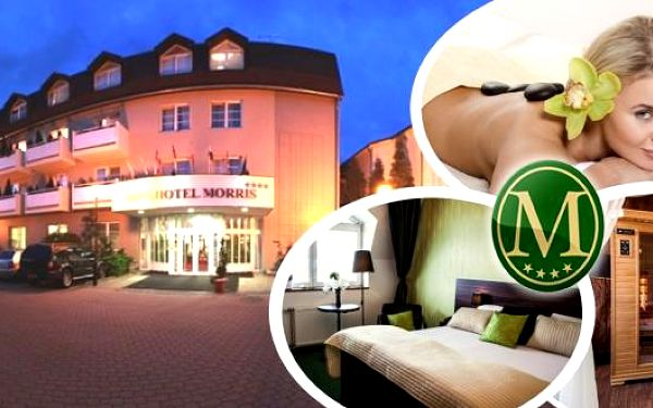 Nový Bor - romantický pobyt pro 2 osoby na 3 dny v luxusním Parkhotelu MORRIS ****. Bohatá polopenze, vstup do vířivky a sauny, čokoládová masáž, masáž lávovými kameny, tepelný zábal, DVD a filmy na pokoj a další.