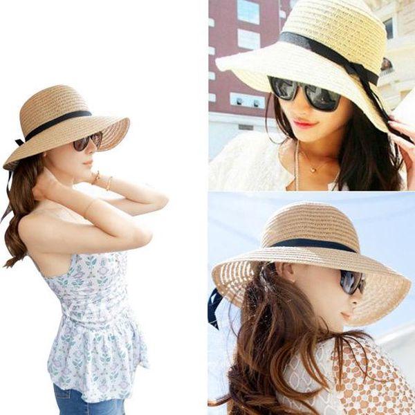 Dámský slaměný klobouk ve dvou barvách
