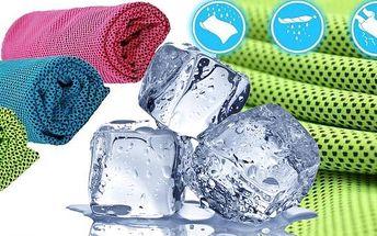 Chladící ručník - 3 barevné provedení. Parádní osvěžení v parném létě. Při sportu, po fyzické zátěži, i když se budete jen vyvalovat u vody, zaručeně oceníte ochlazení. .