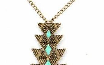 Vintage náhrdelník se skládaným přívěskem