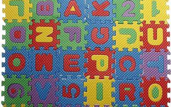 Barevné pěnové puzzle - abeceda a číslice - dodání do 2 dnů